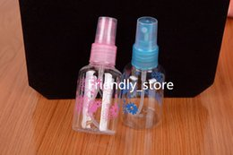 Wholesale DHL Fast shipping Beauty Ml make small watering can spray bottle cosmetic bottles water bottle packaging pet transparent plastic bottle
