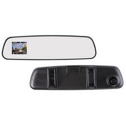 Wholesale car dvr Inch P Full HD Night Vision Degree View Angle Rearview Mirror Car Camera DVR Recorder Camcorder Best Price Sale