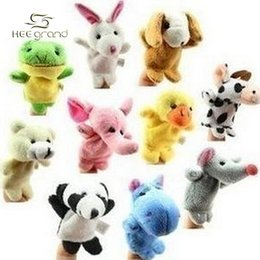 Wholesale Pics Baby Plush Toy Finger Puppets Talking Props Animal Group D006