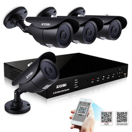 Wholesale ZOSI HDMI CH Realtime FULL H DVR KIT x HD TVL Night Vision ft CMOS CCTV Camera Security System Surveillance Recorder CCTV System