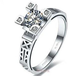Free Shipping Fine Three Stone Rings Diamond Ring women white gold ring
