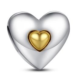 Silver Charm Coeur Joyeux anniversaire avec 14k Coeur Véritable argent 925 pour Style Pandora Bracelets S215 supplier happy anniversary charm à partir de charme joyeux anniversaire fournisseurs
