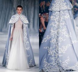 Paolo Sebastian 2016 Wedding Jacket Wrap For Bride High Neck Wedding Cape Embroidery Satin Cloak Jacket Bridal Bolero Shrug Dubai Abaya