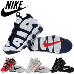 Wholesale Nike Air More Uptempo Men Training Shoes Pippen Retro Men Basketball Shoes Cheap Air Max Olympic USA mens outdoor athletic Sneakers size8