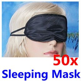 Wholesale 50 x Black Blindfold Sleeping Travel Rest Mask Eye Mask Shade Nap Cover Cheap Price