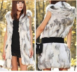 Desconto women s faux fur vest Chic Up casaco de pele Faux para as Mulheres Elegante Vintage V-neck Waistcoat inverno quente qualidade mangas Vest Wrap Outerwear dorp shipping