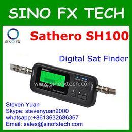 Buscador hd sathero en venta-la nave libre Sathero SH-100HD bolsillo Satélite Digital Satellite Finder Medidor Sathero SH-100 HD señal Sat Buscador de DVB-S2 USB 2.0