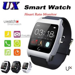 Wholesale UX Bluetooth Smart Watch Smartwatch Wristwatch Sleep Heart Rate Monitoring for iPhone Samsung S6 Note HTC Android Smartphones Phone Mate