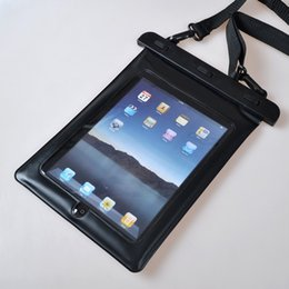 Galaxy tab caja estanca en Línea-Bolso impermeable de la bolsa de la caja de la tableta del bolso impermeable con el acollador a prueba de choques a prueba de polvo para el ipad 2 3 4 para el aire 2 del ipad