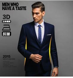 Ocasionales adelgazan un botón traje chaqueta de los hombres con los pantalones de traje formal para los hombres solo pecho personalizada Juego de la boda trajes de hombre desde traje formal de un solo botón delgado fabricantes