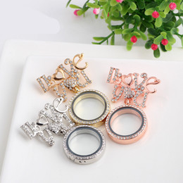 Fortunately, European-style DIY jewelry box transparent float glass shelf floating charm brooch round three colors