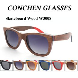 Wholesale 2015 High quality skateboard wood sunglasses W3008 hot sale polarized women men wooden shades with matel spring hinge