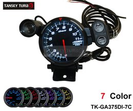 Wholesale Tansky Universal Meter Gauge Defi quot colors settings STEPPER MOTOR TACHOMETER CAR METER AUTO GAUGE TK GA375DI CC
