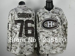 Wholesale Factory Outlet Camo hockey jersey Montreal Canadiens Subban authentic sports clothing for men s