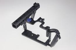 Aparejo de jaula en venta-F11100 Profesional GH3 GH4 Protector Vivienda Estuche Mango Grip Rugged Cage Combo Set DSLR Rig Cámara Digital + Freeship