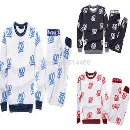 FG1509 New Fashion 100 Percent Emoji 3D Print Tracksuit, Men Women Boy Pants+Sweatshirts Set, Winter 100 Score Clothes Trousers Tops