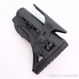 Wholesale GL SHOCK Shock Absorbing Collapsible Butt Stock w Adjustable Cheek Rest Black without No FAB Defense Logo