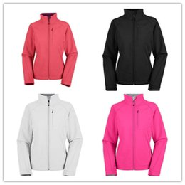 Wholesale HOT SALE Women s Apex Bionic Jackets Sport Outdoor Fleece SoftShell hiking camping climbing Zipper black jacket