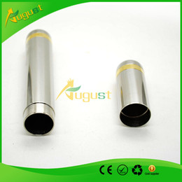 Wholesale Storage Tube for cigar Stainless Steel Cigar Tube with Gold Rings RG x