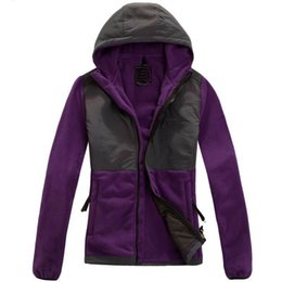 Wholesale FREE Winter Down Ski Fleece Womens Fleece Hooded Jacket Winter Outdoor Sports Warm Fleece Sweatshirt Outerwear Men Kids SoftShell