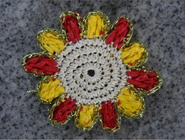 Wholesale Pure Handmade paper coasters and Hook flower