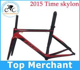 Wholesale Time skylon carbon road bicycles frames racing bike frameset brake wind bike BB386 BB30 BB68 with frok seat post frame clamp