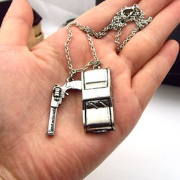 Wholesale In the latest vintage antique silver supernatural dean Winchester car license plate necklace