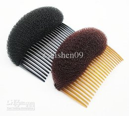 Wholesale 10PX BUMP IT UP Volume Inserts Do Beehive hair styler Insert Tool Hair Comb Black Brown