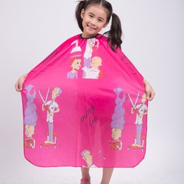 "28""x47"" Child Kid Hair Cutting Waterproof Cape Barber Styling Salon Hairdressing Wrap Cartoon Sheep Capes Cloth,4 Color"