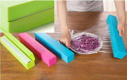 Wholesale Hot Selling Plastic Food Wrap Dispenser Aluminum Foil Wax Paper Cutter colors