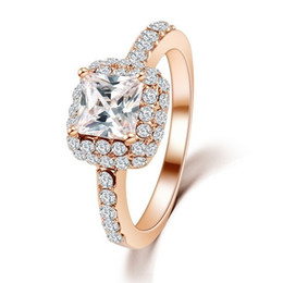 Hot Fashion Crystal Jewelry Women's Rings Inlay Zircon Gold Plated Rings Wedding Ring for Women