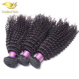 Goldleaf products Brazilian virgin hair kinky curly 3pcs Mongolian kinky curly virgin hair weave bundles human Hair extension