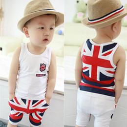 2017 Children's Clothing Children's Sets Summer kids clothes Vest + shorts Cotton boy clothes baby boy suit G272