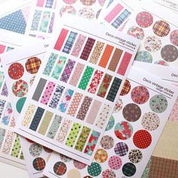 Wholesale 6 Lovely Print Notebook Album Calendar Memo Message Diary Notes Memo Decor Scrapbook Paper Sticker