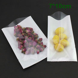 7*10cm White   Clear Plastic Bag Open Top Food Storage Packaging Bag Heat Seal Vacuum Packing Pouches Polybag For Candy Snack Cookies Tea
