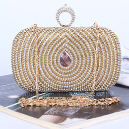 Factory-direct Retaill Wholesale handmade unique diamond evening bag clutch with satin PU for wedding banquet party porm