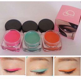 Wholesale-New Waterproof Long Wear Lasting Eyeliner Cream Gel Fashion Colorful Eyeliner Creams Green Orange Pink