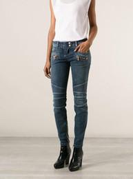 Wholesale Cotton Tie Dye Leggings - Femme Jegging American Women Skinny Leggings Slim Jeans stretch Denim Cotton Trousers Washed Pencil Pants