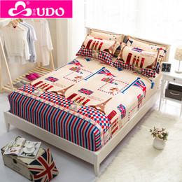 Colchones de colchón en Línea-Al por mayor-Usted Duo Textiles para el hogar de protección Cubierta de colchón sábana ajustable Cubrecolchón elástico cama cubierta GM005