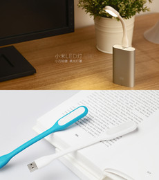 Wholesale 2015 Mini USB Light Xiaomi LED Light Gadget Portable Bendable Outdoor Sports Soft LED Lamp For Power bank Computer with retail package Best