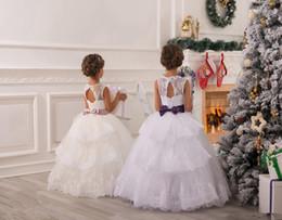 Sash Tulle Ball Gown Ivory Baby Girl Birthday Party Christmas Dresses Children Girl Party Dresses Flower Girl Dresses