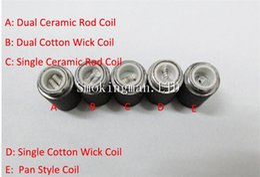 Atomizer Coil Head Dual ceramic cotton for Skillet eGo-D Vaporizer Atomizer Replace Core Ego-D replacement coil head skillet coil base wax