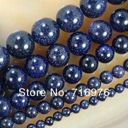 Wholesale mm mm mm mm mm Blue Sand Stone Round Beads quot Pick Size F00079