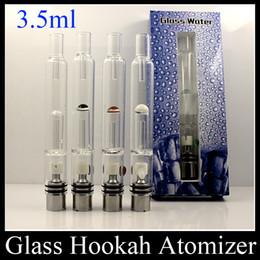 Pyrex Glass Hookah Atomizer Dry Herb Wax Vaporizer Pen Water Filter Pipe E Cigarette Bongs PK Mutation X V4 RDA ATB031