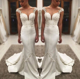 Wholesale Hot Latest Design Wedding Dresses Backless Embroidery Lace Applique Mermaid Bridal Gown Floor Length Custom Made Wedding Dress