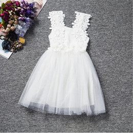 Baby Girls Baptism Dress ,White Christening Dress,White Lace Tulle Baby Summer Girls Dress With Flower