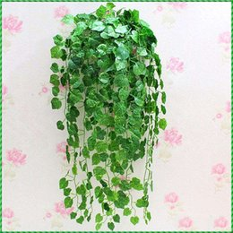 Wholesale 2016 Hot sale m Artificial Grape Leaves Wall Hanging Green Plants Home Decoration Ivy Simulation Rattan Green Pineapple
