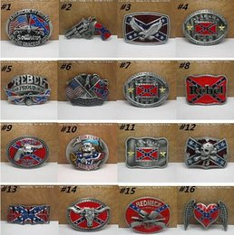 Wholesale Fashion Buckles Confederate Southern South Rebel Dixie Flag CSA Army Big Belt Buckle Buckles High Quality