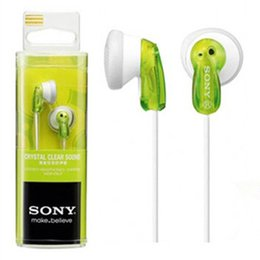 Wholesale Stereo Sony MDR E9LP Earphone Headphones Candy Colorful In Ear Headset For MP3 PC phone iPhone s s Plus Samsung s4 s5 s6 edge sony