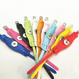 Wholesale 20PCS Lot New Style PU Leather Snaps Snake Wristband Bracelets Double-deck DIY Wristband Fit 2CM Snaps WB12